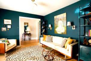 deep teal living room decoist