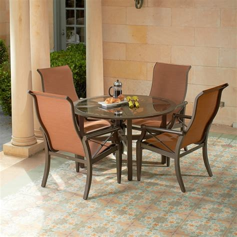 woodard andover sling 5 patio dining set wd