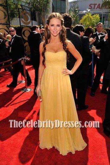 foto de Jennifer Love Hewitt Yellow Strapless Formal Dress 2009