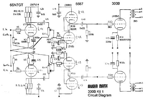 audio note 300b schematic audio note 300b kit 1 rajz service manual download schematics eeprom repair info for
