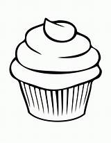 Cupcake Coloring Cupcakes Pages Cool sketch template