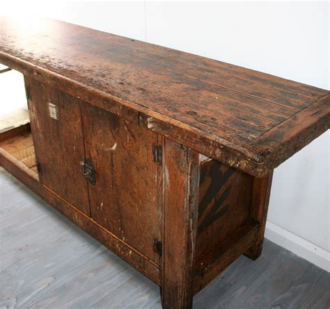 french rustic workbench haunt antiques   modern
