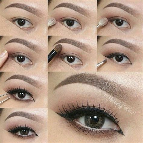 step  step eye makeup pics  collection neutral