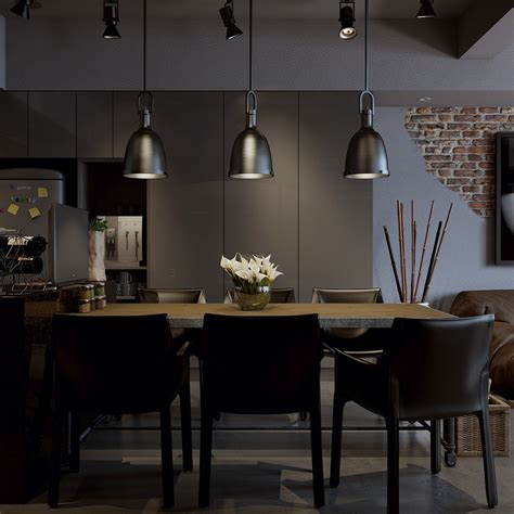 Darkmoderndiningroom  Interior Design Ideas