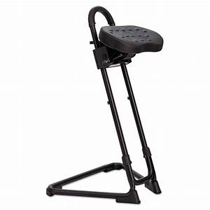 Alera Plus Ss Series Sit  Stand Adjustable Stool  Black