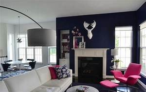 Grau Blaue Wand : wohnzimmer wandfarben gestaltung ~ Watch28wear.com Haus und Dekorationen