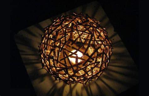 diy lamp shade     lamp shade  twigs