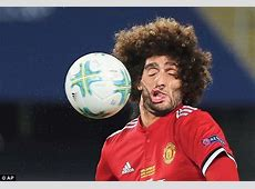 Man United ace Marouane Fellaini has gurning face mural