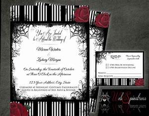 printable gothic wedding invitations roses stripes red With free printable gothic wedding invitations