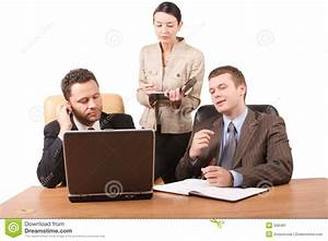 Group Of 3 Business People Working Together With Laptop In ...