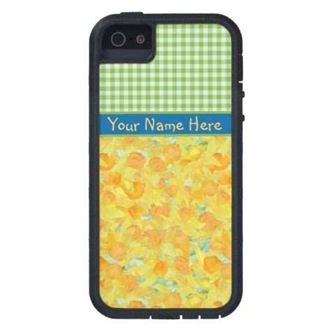 customize iphone 5s custom iphone 5 5s golden daffodils gingham