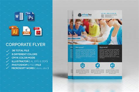 Microsoft Word Flyer Templates by Corporate Flyer Ms Word Flyer Templates Creative Market