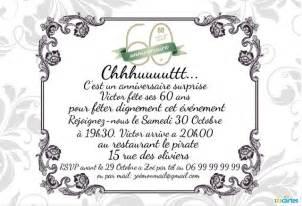 message fã licitation mariage invitation anniversaire 60 ans 123 cartes