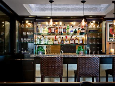 Kitchen Bar With Glass Shelves Pictures Decorations