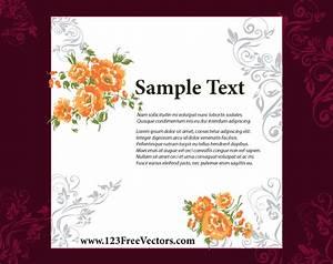 wedding invitation card design 123freevectors With download pictures of wedding invitation card