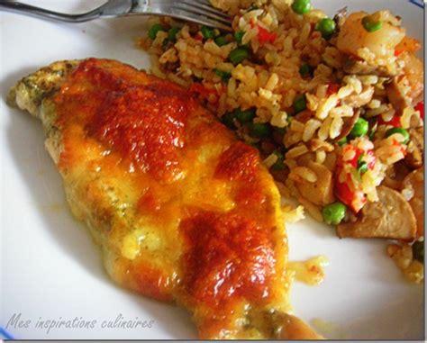 escalope de poulet au pesto et mozzarella par mes inspirations culinaires
