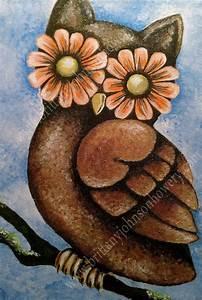 Easy Acrylic Painting On Canvas   Acrylic on Canvas Owl ...