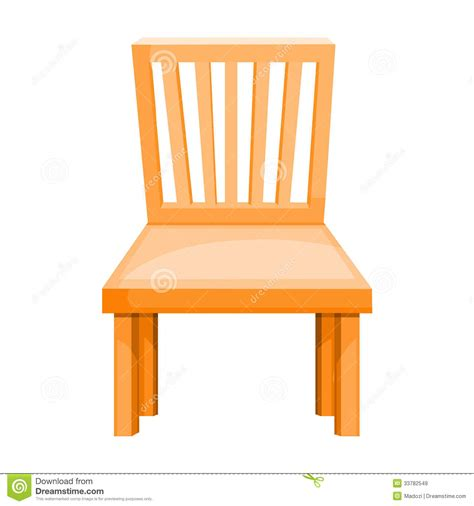 wood chair isolated illustration royalty free stock images