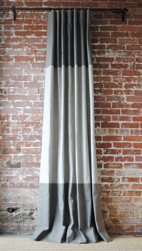 martha drapery panel  classic linen drape  color