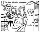 Mad Scientist Coloring Science Pages Drawing Printable Getdrawings Drawings Kid Lab Print Getcoloringpages Getcolorings Famous Sid Pag sketch template