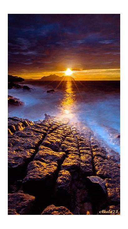 Sunset Soleil Sol Coucher Decline Gifs Imagens