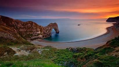 Dorset Door Durdle England Ocean Wallpapers Water