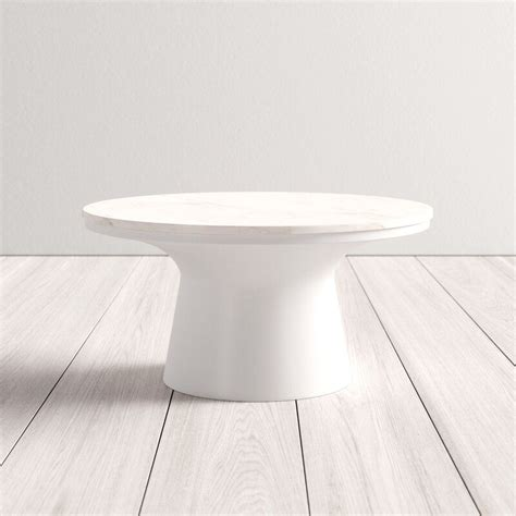 19 coastal coffee tables for your beach home. Muriel Coffee Table in 2020   Round coffee table modern, Pedestal coffee table, White round ...