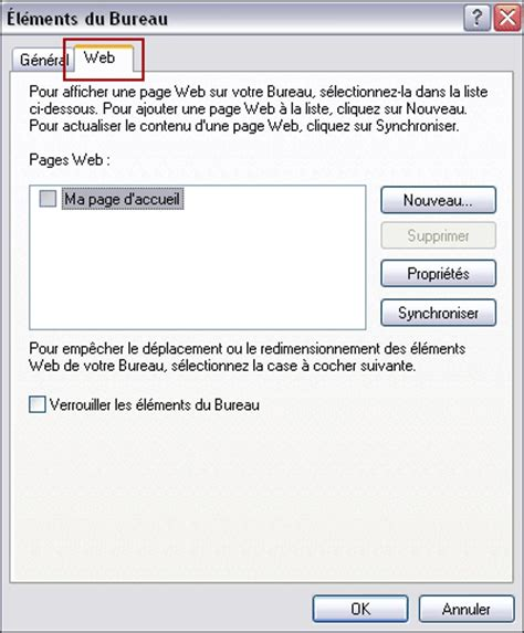 bureau web personnaliser l 39 affichage du bureau et de windows xp