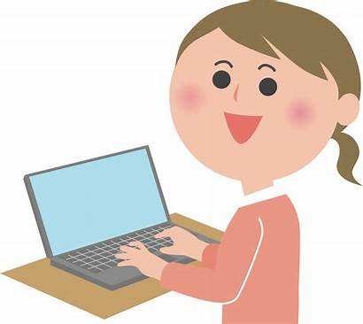 User Computer Pc Female Busy Tuesday Clipart