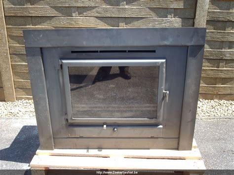 houtkachels tweedehands grote inbouw houtkachel in propere staat aangeboden