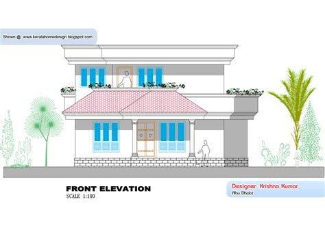 Kerala home plan and elevation - 1300 Sq. Feet - Kerala