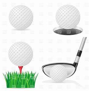Golf ball on tee and golf club, 19375, Sport and Leisure ...