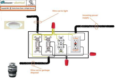 Wiring Diagram For Gfci by Dishwasher Garbage Disposal Gfci Wiring Diagram Wiring