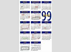 Calendario Escolar Semestral 19992000