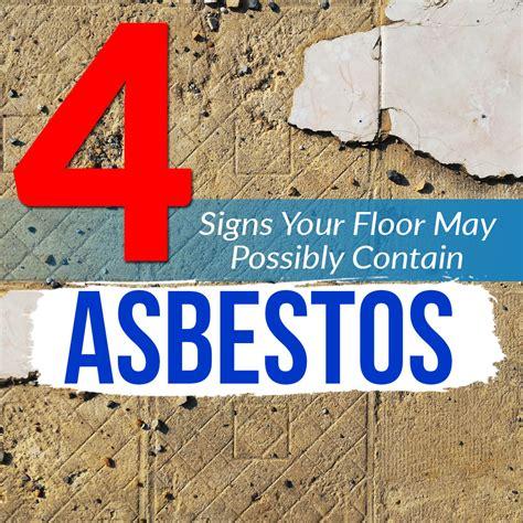 signs  floor  possibly  asbestos blog