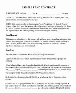 Letter Of Recommendation From Landlord Free 9 Sample Land Contract Forms In Ms Word Pdf