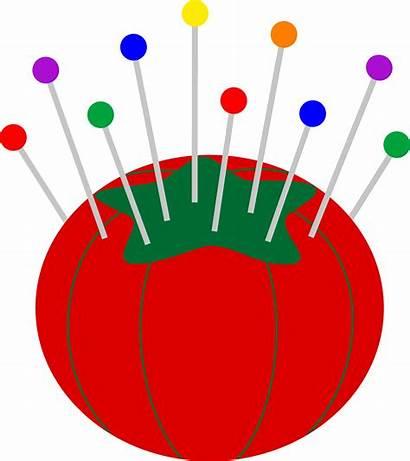 Clip Cushion Pins Tomato Pincushion Sweetclipart