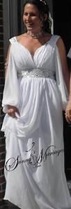 Robes De Mariée Bohème Chic : robes de mariage coupe empire avec manches sunny mariage ~ Nature-et-papiers.com Idées de Décoration