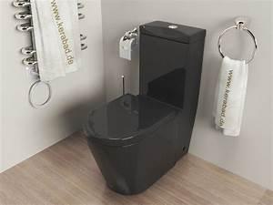 Stand Wc Eckig : design stand wc sp lkasten deckel kombination kb380s schwarz ebay ~ Markanthonyermac.com Haus und Dekorationen