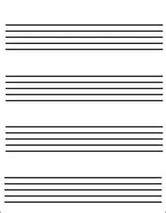 Printable Music Staff Paper