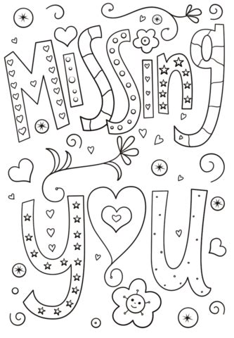 missing  doodle coloring page  printable coloring pages