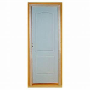 bloc porte post forme gauche porte interieure porte With porte de garage et porte intérieure À recouvrement