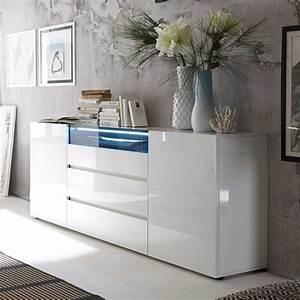 Weiß Hochglanz Sideboard : design sideboard cleo mit led beleuchtung ~ A.2002-acura-tl-radio.info Haus und Dekorationen