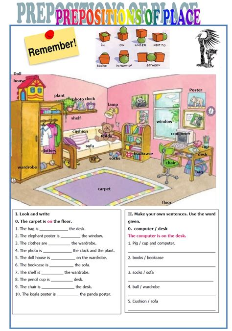 Evacaceresedublog Prepositions Of Place