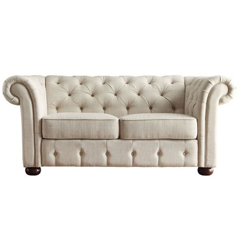 Tufted Loveseat by Modern Seat Sofa Contemporary Tufted Chaise