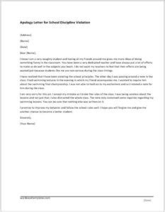 Poor Services Apology Letter MS Word Document Template | Word & Excel Templates