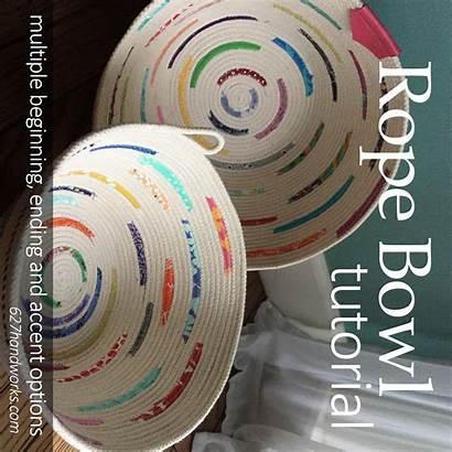 Rope Bowl Tutorial Fabric Basket Bowls 627handworks