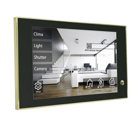 blumotix knx theo10 touch panel hd gold back bx t10ip gg