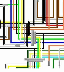 Suzuki Ts125 Er Uk Spec Large A3 Colour Wiring Loom Diagram