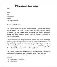 Sle Cover Letter For Internship In Information Technology Information Technology Cover Letter Template 8 Free Documents In Pdf Word